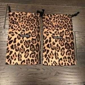 D&G cheetah shoe dust bags